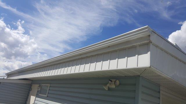 eavestrough repair edmonton - completed residential home with clean look